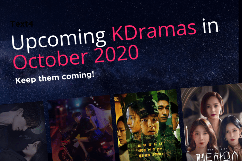 New Kdramas In October 2020